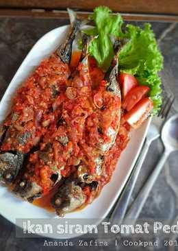Ikan siram tomat pedas