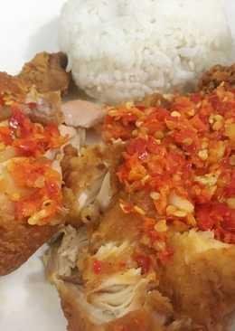 Ayam geprek A&W ala Anak Kost
