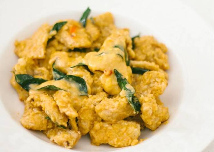 resep salted egg yolk chicken ayam saos telur asin oleh