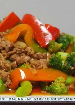 Ca Brokoli Daging Cincang Saus Tiram