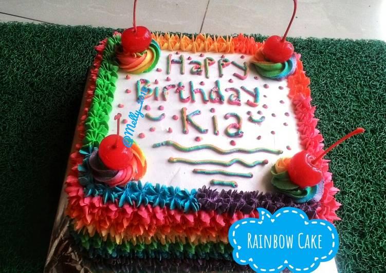 Rainbow Cake Kukus #pekaninspirasi