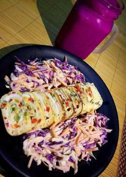 Egg Rolls with Fresh Salad (Healthy Breakfast Menu)