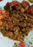 Cauliflower fried rice (kembang kol bumbu nasgor)