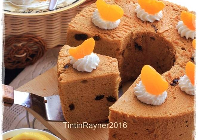 Resep Cake Lemon Tintin Rayner: Resep Angel Food Cake Moka+Raisin (Cake Putih Telur) Oil