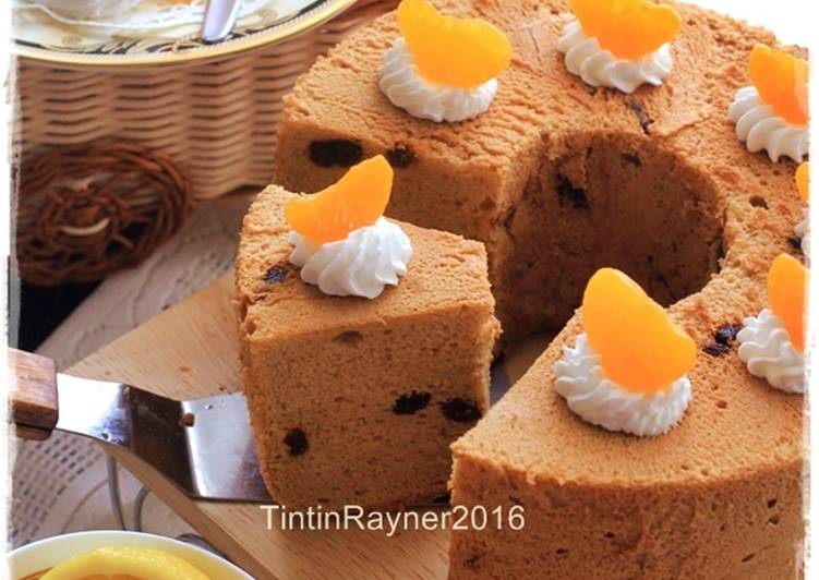Resep Angel Food Cake Moka Raisin Cake Putih Telur Oil