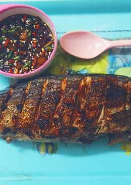 Ikan tenggiri bakar teflon