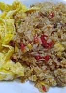 Nasi goreng terasi pedas sederhana