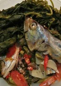 Pepes ikan peda daun singkong di rice cooker
