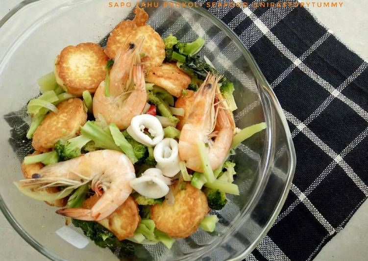 Resep Sapo Tahu Brokoli Seafood Kiriman Dari Nirastorytummy Lindawati