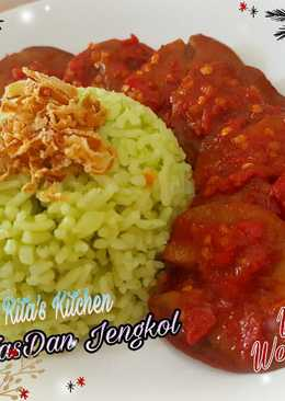 Nasi Pandan ala rice cooker