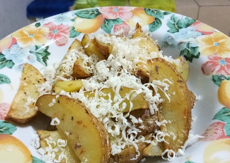 Resep Cheesy Potato Wedges Kiriman dari Mita Aliefa