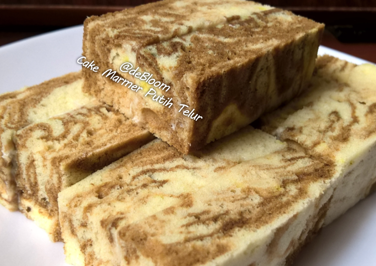 Resep Cake Kukus Modern: Resep 100. Cake Marmer Putih Telur Kukus Oleh JE DeBloom
