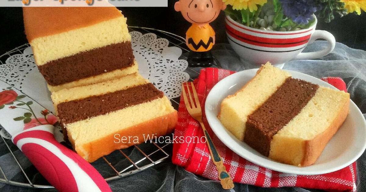 Resep Sponge Cake Jepang: Resep Layer Sponge Cake Oleh Sera Wicaksono