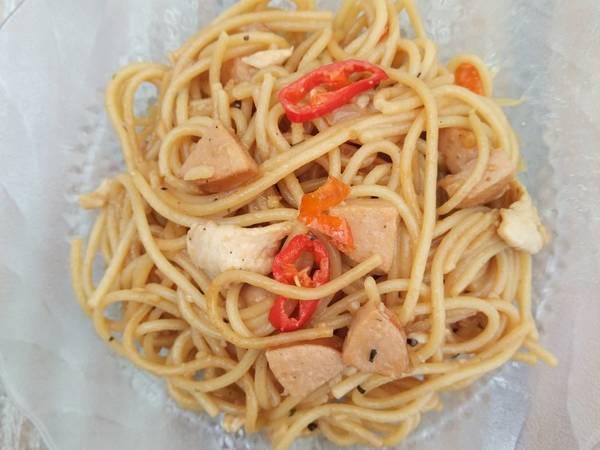 Kungpao chicken spageti