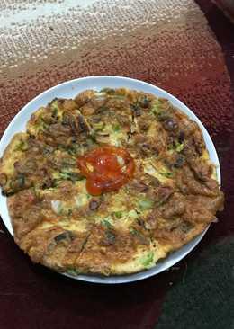 Kimchi Jeon / Telur Dadar Kimchi ala korea