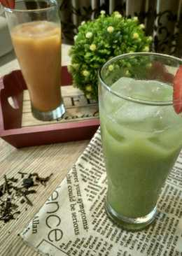 Thai tea & Green tea milk