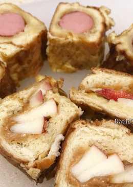 Apple in Fried Bread with Peanut Sauce Bekal Anak