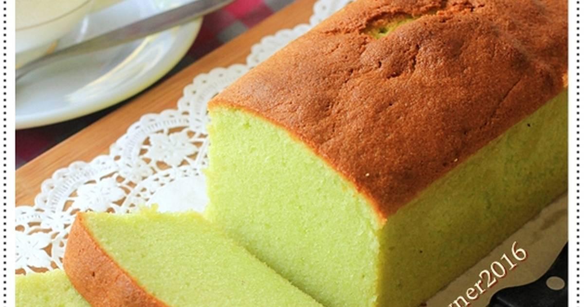 Resep Condensed Milk PANDAN POUND CAKE 5 Bahan Yummy