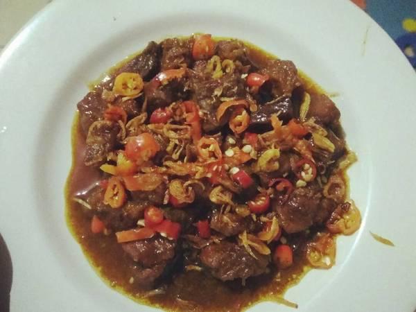 Sate goreng kambing