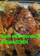 Ikan nila goreng spesial lunch