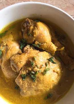 Soto ayam kuning kental (masakan rumahan sederhana)