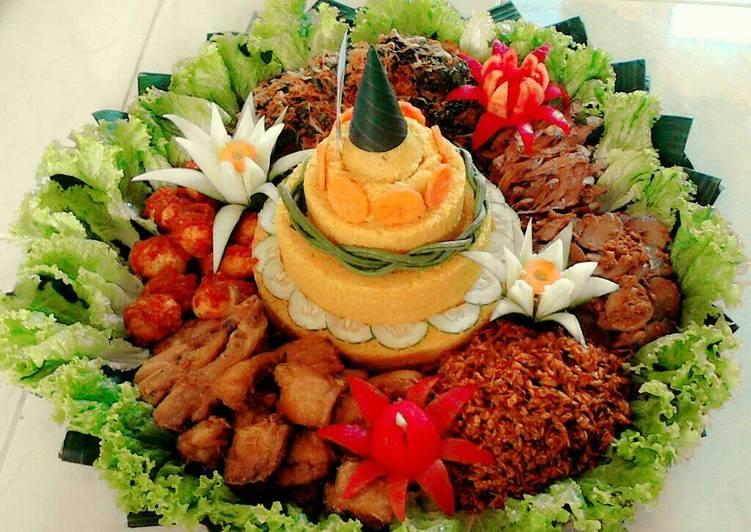 4000 Gambar Cara Membuat Hiasan Nasi Tumpeng