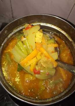 Sayur lodeh labu siam mix wortel dan buncis