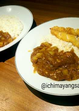 Japanese curry with crispy dory