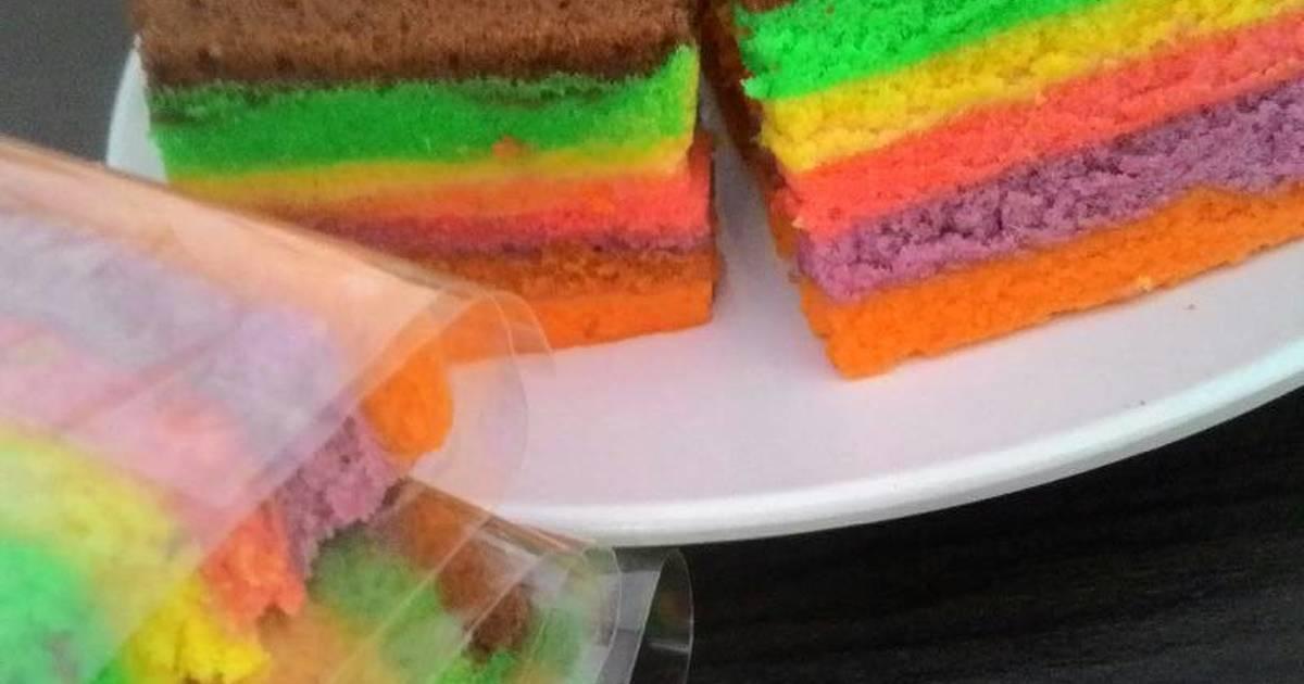 Resep bolu rainbow
