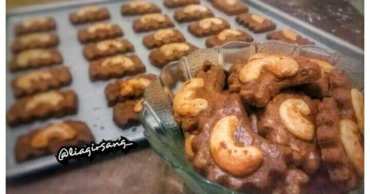 kue kering coklat kacang   69 resep   cookpad