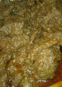 Rendang daging Medok