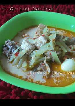 Sambel Goreng Manisa + Tulang ayam + Udang + telur puyuh
