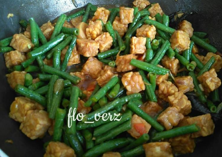 Resep Tempe Kecap campur Kacang Panjang By flo_verz