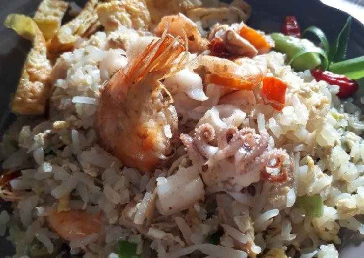 Nasi Goreng Sirta Seafood ala Nice Ketofood #ketopad_cp_ seafood