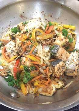 Healthy food tuna (menu diet)