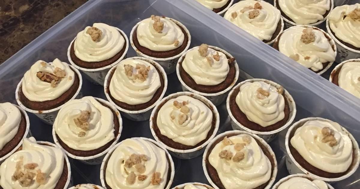 Resep Bolu Pisang Cupcake pake Cream Cheese Frosting