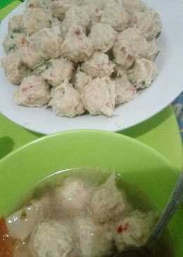 Bakso Rambutan (Bakso Ayam Kres- Giling Blender)