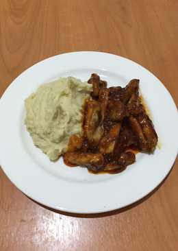 Moast potato and chicken honey teriyaki