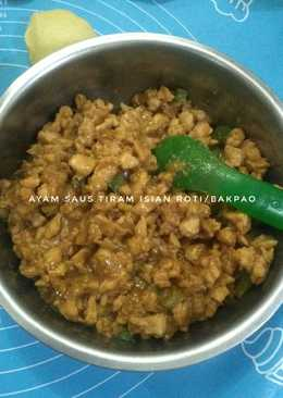 Ayam saus tiram (isian roti)