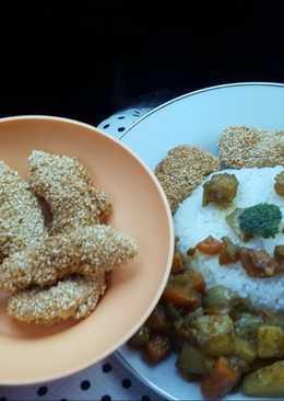 Ayam katsu kari (chicken katsu curry)
