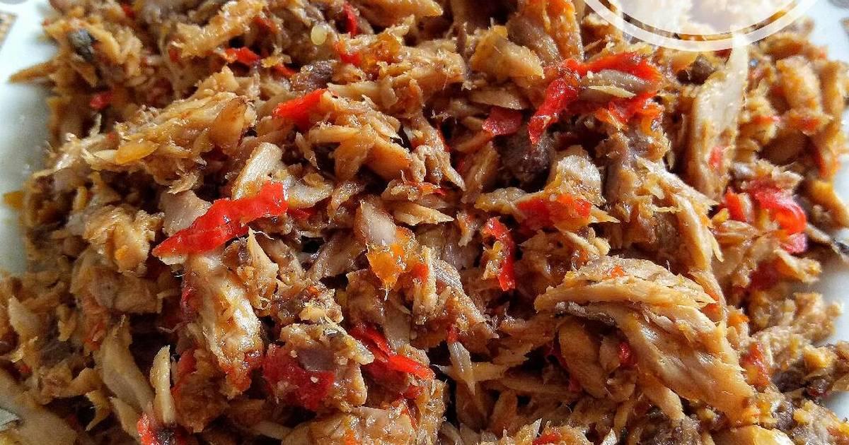 Hasil gambar untuk Masakan Ikan Tongkol Suwir Bumbu Pedas