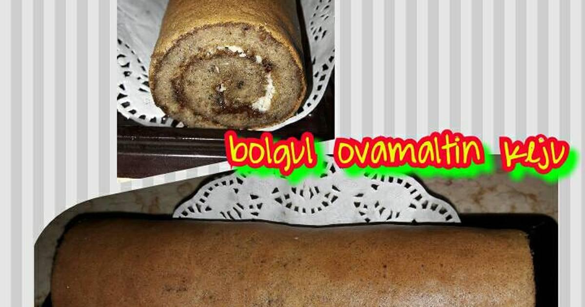 Resep Bolu Gulung 'Ovomaltin keju