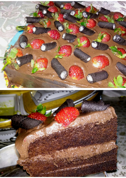 Kasmaran Choco ice Cake / brownies kukus / ice cream cake