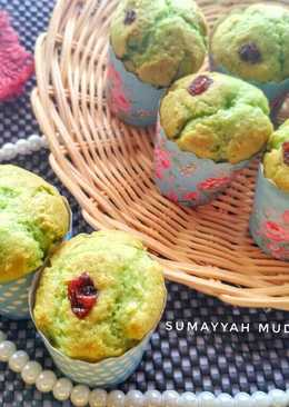 Muffin pandan keju