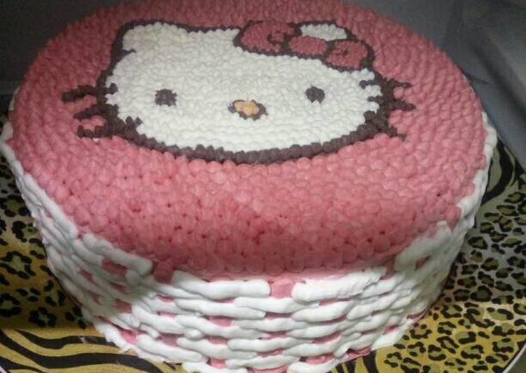 Resep Birthday Cake Hello Kitty Oleh Herlena Cookpad