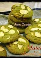 Matcha Almond Cookies
