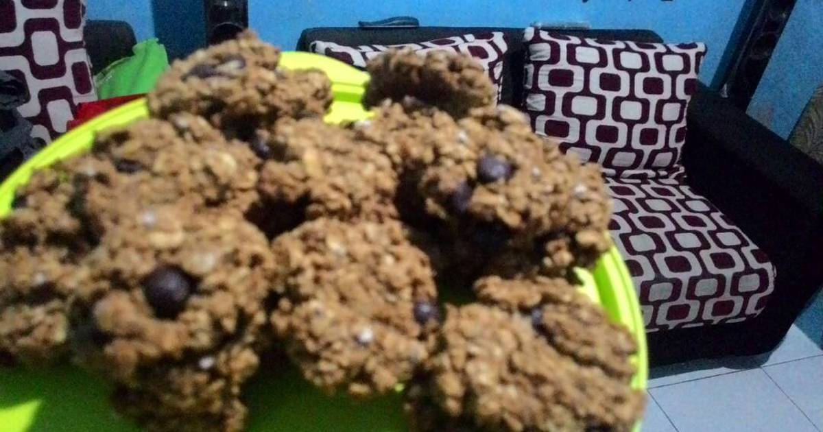Resep Oatmeal choco chips cookies,super quick dan menyehatkan