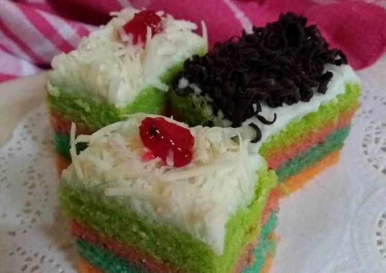 Resep Cake Kukus Pelangi Ncc: Resep Bolu Kukus Pelangi Oleh Niar Cahyadi