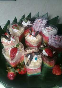 Rainbow Cake Singkong Gluten Free