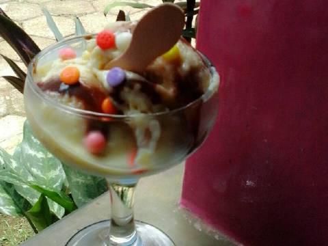 Ice cream ubi cilembu (3 bahan) no emulsifier no whip cream dll